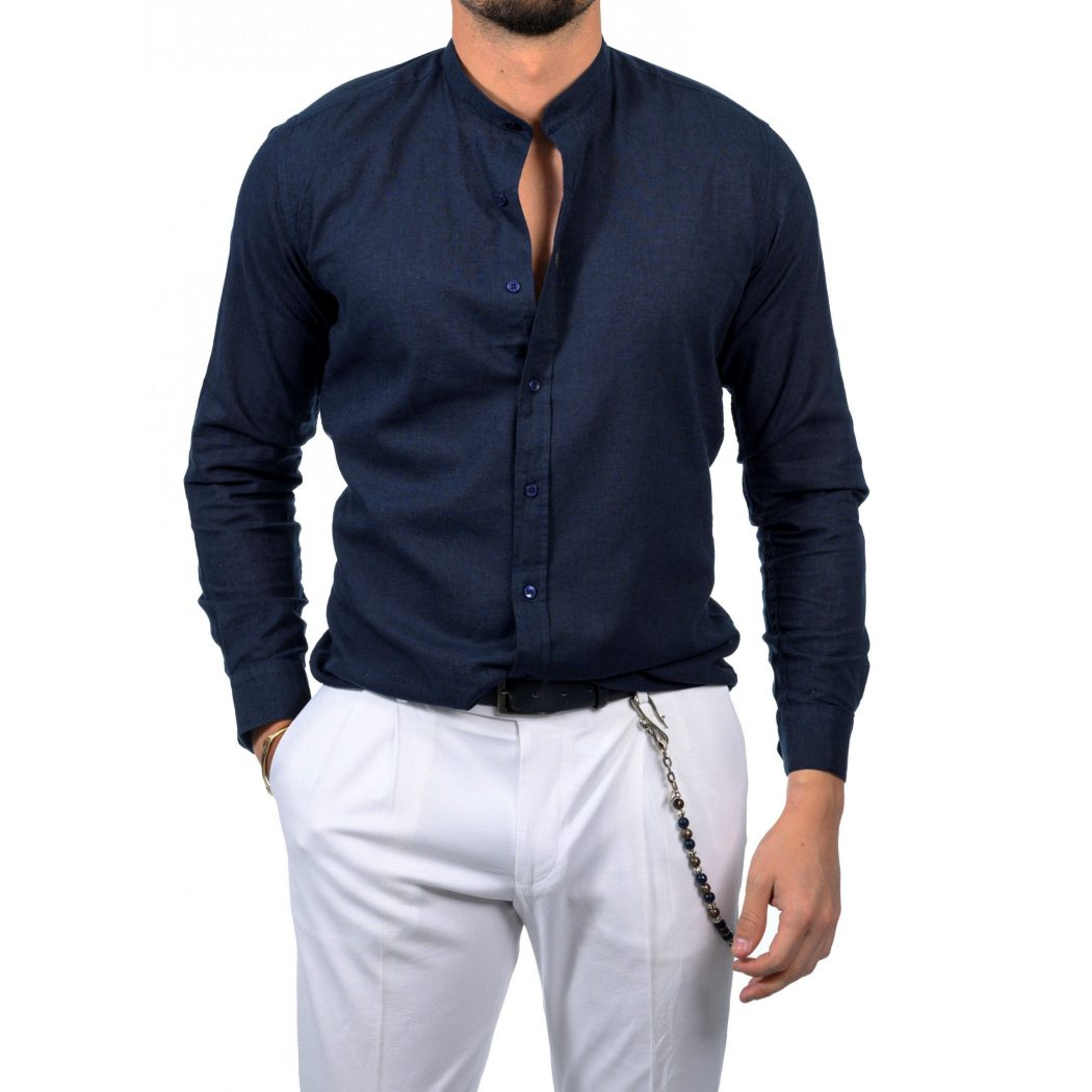 λινο Mao μακρυμανικο πουκαμισο 5426 1 Scaled 1050x1050