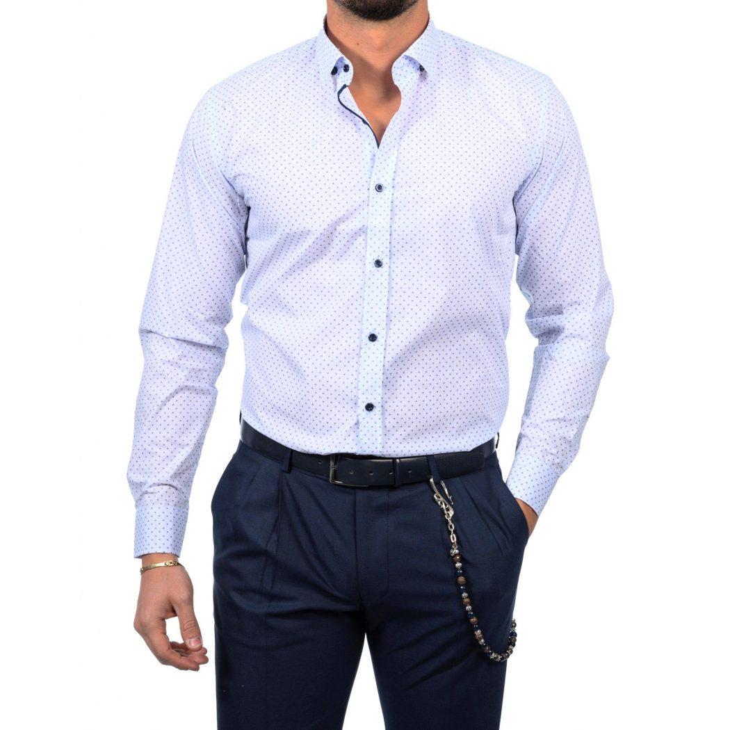 μακρυμανικο πουκαμισο με μικροσχεδιο d 2210 5551