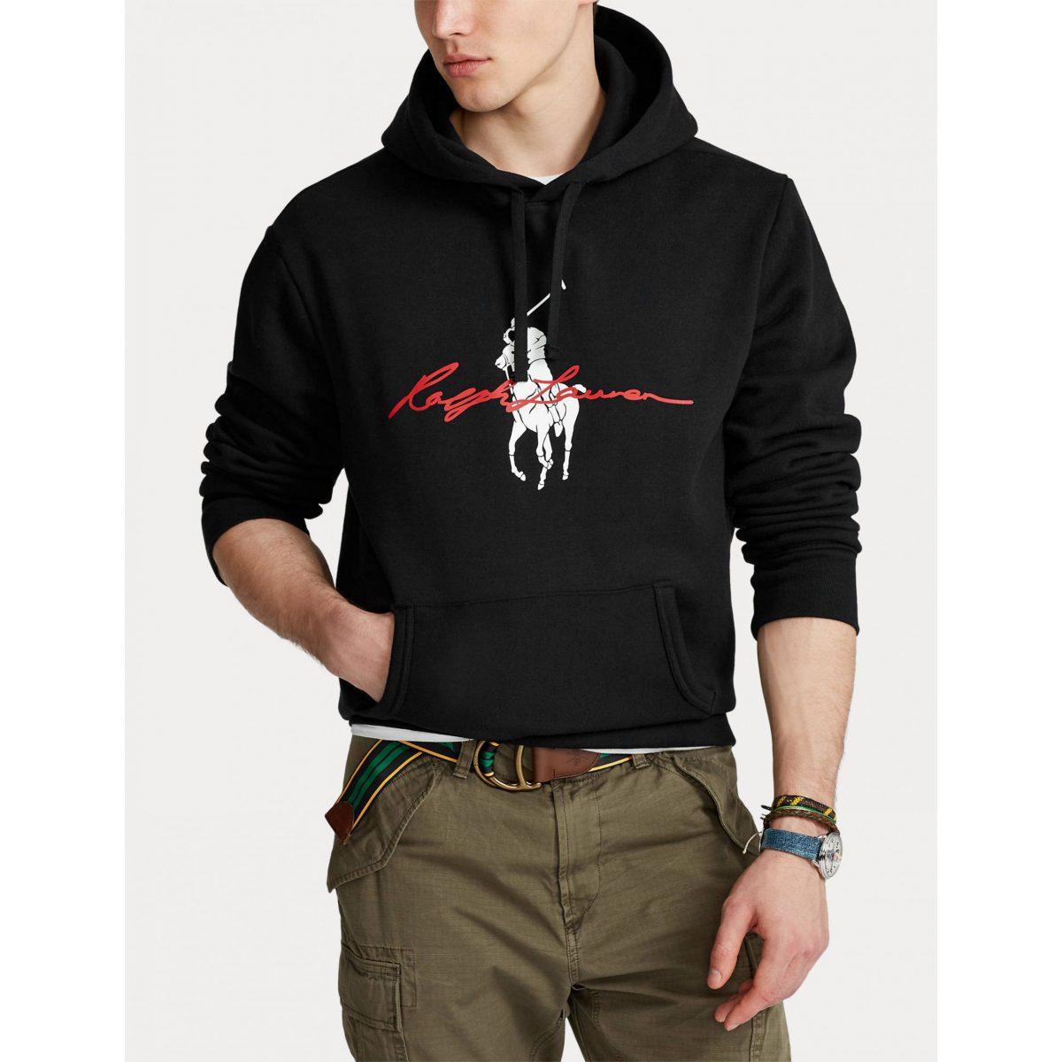 polo ralph lauren hoodie met logo zwart zwart 3616531202591 2 scaled