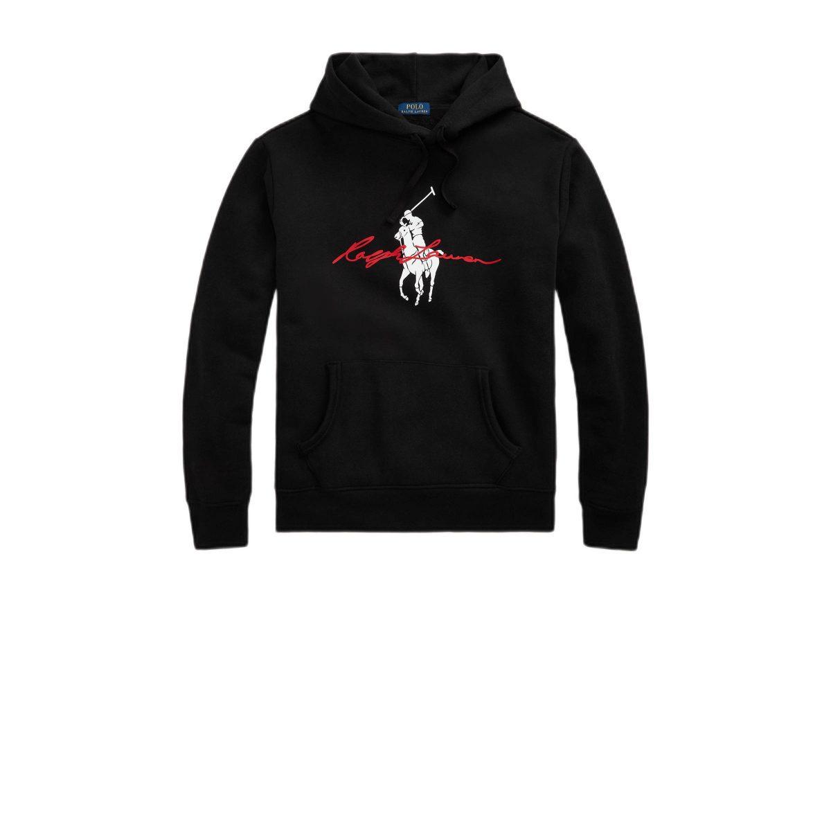 polo ralph lauren hoodie met logo zwart zwart 3616531202591 3